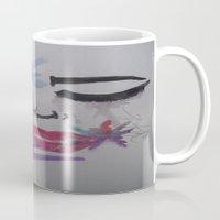 splatter Mugs featuring Splatter. by TheArtOfFaithAsylum