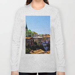 Cerro Conception, Valparaiso, Chile Long Sleeve T-shirt