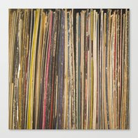 records Canvas Prints featuring Records by Cassia Beck