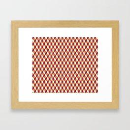 Block Pattern Framed Art Print