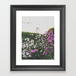 Purple Flowers • Appalachian Trail Framed Art Print