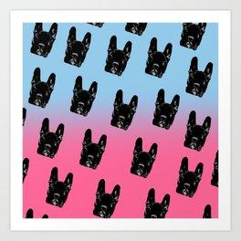 Asia (blue&pink pattern) Art Print