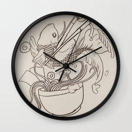 Koi ramen Wall Clock