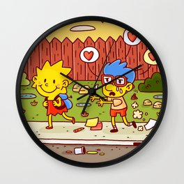 Everything's coming up Milhouse! Wall Clock