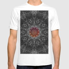 Map of All White MEDIUM Mens Fitted Tee