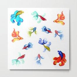 Colorful Fishtank Metal Print