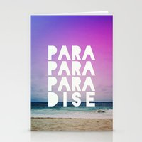 paradise Stationery Cards featuring PARADISE by Leah Flores