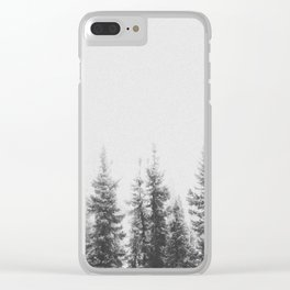 PINE TREES Clear iPhone Case