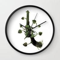 gun Wall Clocks featuring Gun by mariotarrago