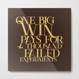 One Big Win Metal Print
