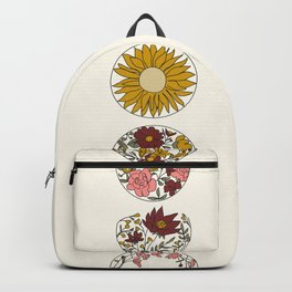 Floral Phases of the Moon Backpack