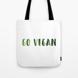 GO VEGAN (2) Tote Bag