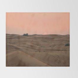 Arabian Desert Sunset Throw Blanket