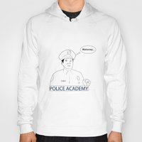 police Hoodies featuring POLICE ACADEMY by sixteenart