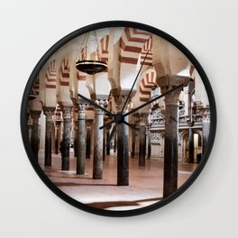 Infinite Pillars (Mosque-Cathedral of Cordoba) Wall Clock