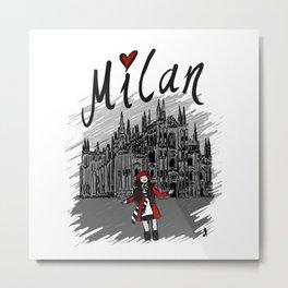 Milan - Travel Serie Metal Print