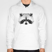 raccoon Hoodies featuring Raccoon by Taranta Babu