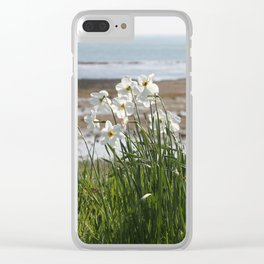Flowers At The Seashore Clear iPhone Case