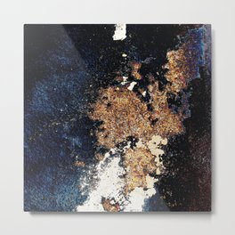 Alien Continents ruined wall texture grunge Metal Print