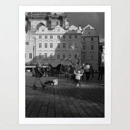 Reaching for the Stars by the Astronomical Clock Art Print