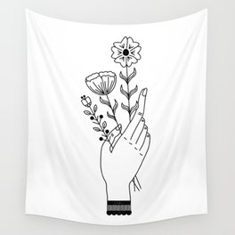 Flower Picking Wall Tapestry