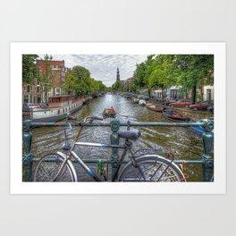 Amsterdam Bridge Canal View Art Print