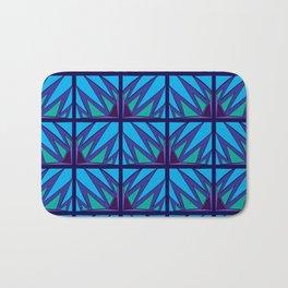 Decorative Purple Points Bath Mat