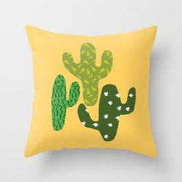 Cactus (Minimal) Throw Pillow