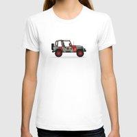 jurassic park T-shirts featuring Jurassic Park Jeep by Adam Tetzlaff
