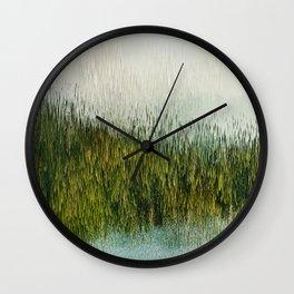 Planet Pixel Mountain Wall Clock