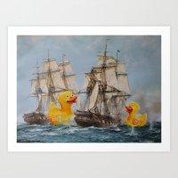 thegnarledbranch Art Prints featuring Terror on the High Seas III by TheGnarledBranch