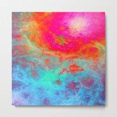 Galaxy : Bright Colorful Nebula Metal Print