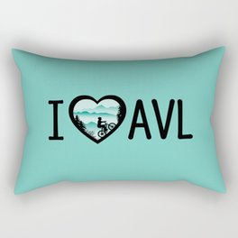 I Love Asheville - Mountain Biking - AVL 4 Mintgreen Rectangular Pillow