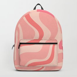 Liquid Swirl Abstract in Soft Pink Backpack