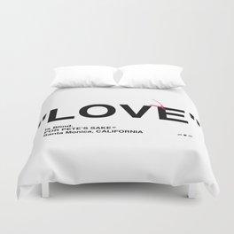 """""""LOVE"""" Duvet Cover"""
