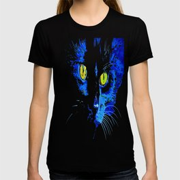 Marley The Cat Portrait With Striking Yellow Eyes T-shirt