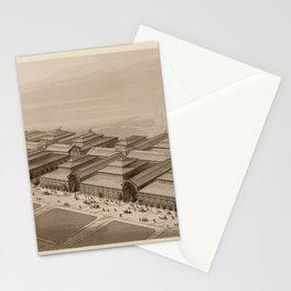 Les Halles Paris 1863 Stationery Cards