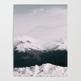 Mountain relief Alps Poster