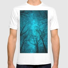 Stars Can't Shine Without Darkness White Mens Fitted Tee MEDIUM