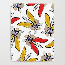 Red Yellow Bracelet Pattern Poster