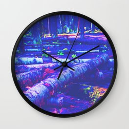 Logs of Colour Wall Clock