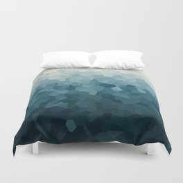 Ice Blue Mountains Moon Love Duvet Cover