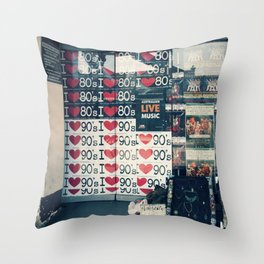 Nostalgia StreetPosters Throw Pillow