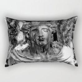 Weeping Angel Black & White Rectangular Pillow