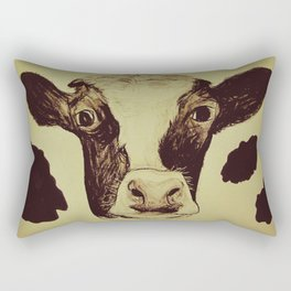 Go Vegan Now - Save Me And My Children Cow Mom Rectangular Pillow