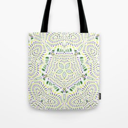 Yellow, Green, Purple Kaleidoscope Tote Bag