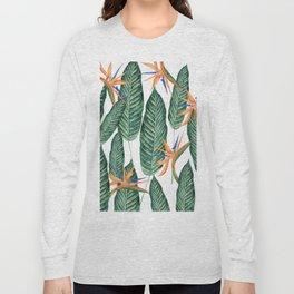 Banana And Flowers #society6 Long Sleeve T-shirt