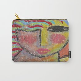 Abstract Portrait of a Woman On Wood Carry-All Pouch