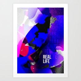 Graphic interpretation of the music Real Life by Kimbra Art Print