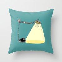 cartoon Throw Pillows featuring CARTOON LAMP by d.ts